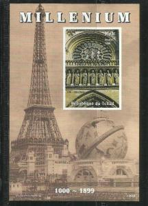 Chad 1999 MILLENNIUM NOTRE DAME DE PARIS s/s Perforated Mint (NH)