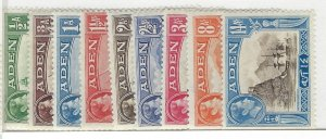 Aden #16-23A - 9 stamps - (ATH)