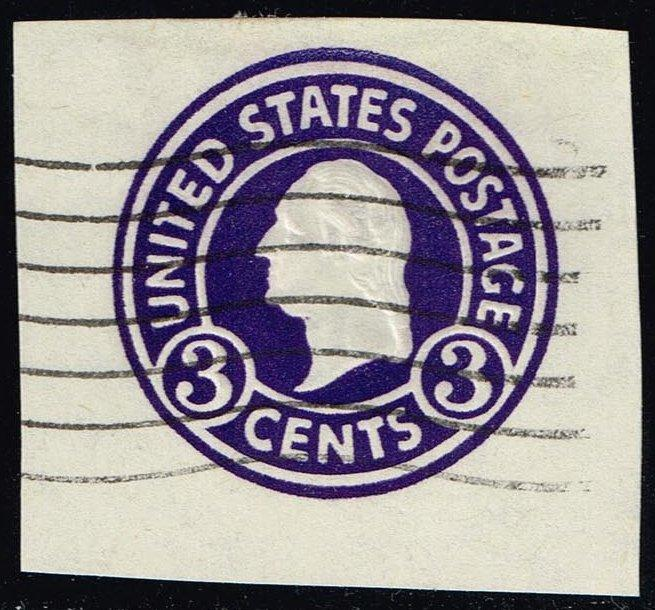 US #U436 George Washington; Used Cut Square (0.25)