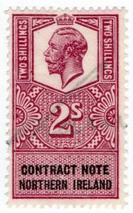 (I.B) George V Revenue : Contract Note (Northern Ireland) 2/-