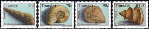 Transkei - 1992 Marine Fossils Set MNH** SG 293-296
