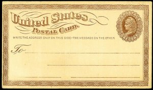 US Stamps # UX1 VF Mint card Tiny adherence on reverse Scott Catalogue $375.00