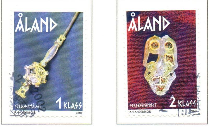 Aland Finland Sc 207-8 2002 Iron Age Artifacts stamp set used