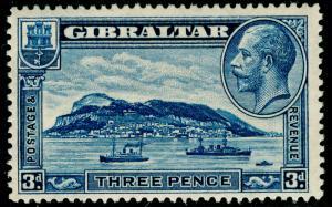 GIBRALTAR SG113, 3d blue, M MINT.