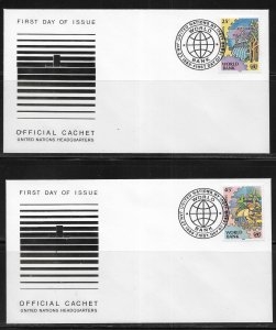 United Nations 546-47 World Bank Headquarters Cachet FDC First Day Cover