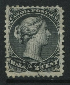 Canada 1868 1/2 cent Large Queen used