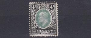 BRITISH EAST AFRICA  1904 - 07 S G  23 4A  GREY GREEN & BLACK  MH  SHORT PERF