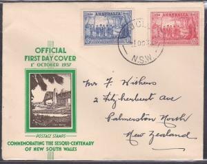 AUSTRALIA 1937 NSW 2d & 3d on FDC - VAUCLUSE NSW cds.......................53792