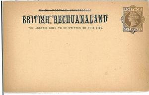 POSTAL STATIONERY: BRITISH BECHUANALAND