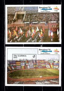 Gambia 1032 35 MNH 1990 Olympics souvenir sheets