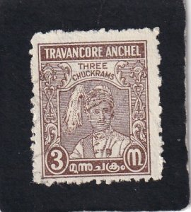 India,  Travancore        #       39    used
