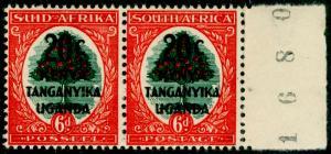 KENYA UGANDA TANGANYIKA SG153, 20c on 6d green & vermilion, NH MINT. Control.