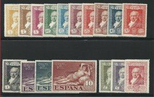 1930 Spain/ Espana/ Spain, N° 412-428 + Pa + Ex Goya 32 Values Mlh