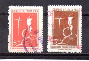Costa Rica RA38,RA40 used