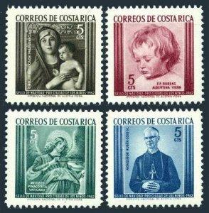 Costa Rica RA12-RA15,MNH.Michel Zw 12-15. Tax stamps 1962.Rubens,Bellini,Melozzo