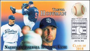 18-145, 2018, Baseball Hall of Fame, Pictorial Postmark, Trevor Hoffman, Event