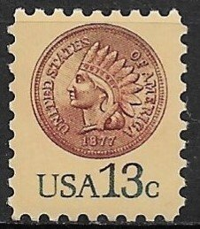 1978 #1734 Indian Head Penny MNH
