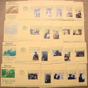 Set of 20 FALKON FDCs with singles from Bicentennial souvenir sheets 1686-9a-e