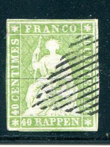 Switzerland  #19   used  F-VF Cat $325 -  Lakeshore Philatelics