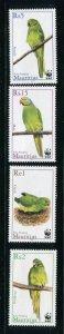 Mauritius MNH 966-9 Parakeets WWF