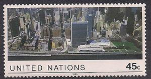 UN NY Sc# 549 Aerial View of the UN MNH