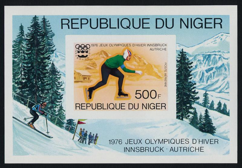 Niger C268 Deluxe MNH Olympic Sports, Speed Skating