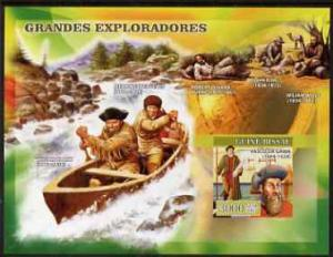 Guinea-Bissau MNH S/S Famous Explorers 2007
