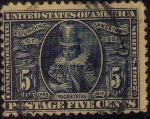 US SCOTT #330 USED F-VF