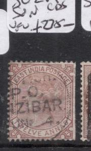 Zanzibar India Used SG Z19 SON CDS VFU (7dje)
