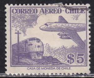 Chile C183 Plane & Train 1956