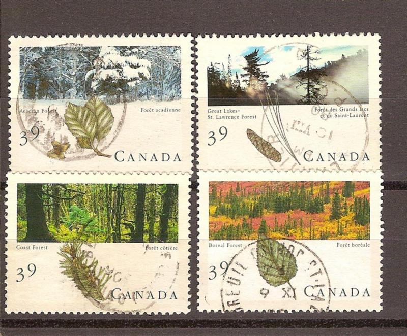 CANADIAN SET ON MAJESTIC FORESTS OF CANA USED STAMPS  LOT#78