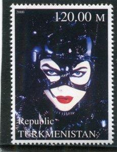 Turkmenistan 2000 BATMAN Nicole Kidman 1 value Perforated Mint (NH)