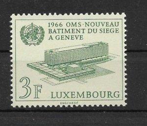 Luxembourg 1966 World Health Organization MNH**
