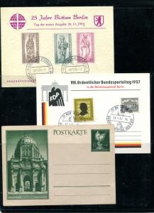 Germany  3 Unused cards , VF