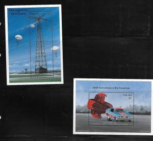 PALAU, 424-425 , MNH, TRAINING TOWER, FT. BENNING, FUNNY CAR, SAFETY CHUTE