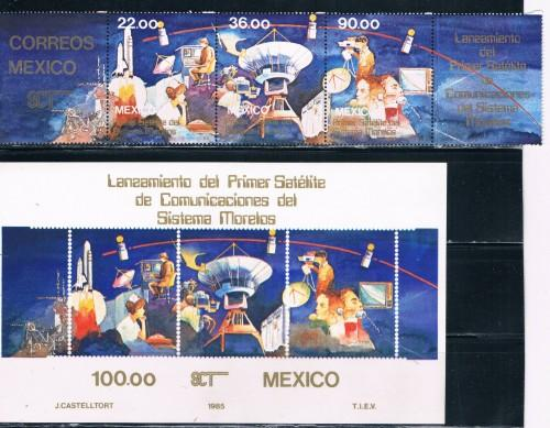 Mexico 1988a-1989 Set and SS Space (ML0276)