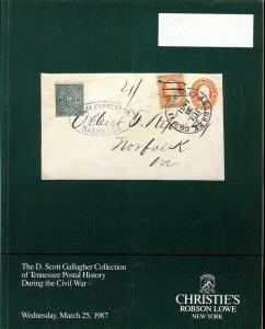 The D. Scott Gallagher Collection of Tennessee Postal His...