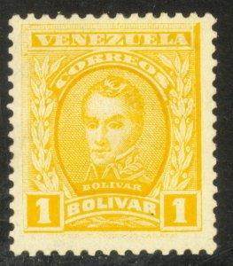 VENEZUELA 1911 1b Simon Bolivar Portrait Issue Sc 255 MH