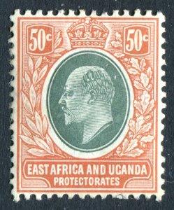East Africa & Uganda/KUT 1907. 50c grey green & orange brown. Mint Hinged. SG41.