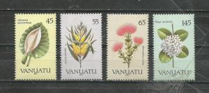 Vanuatu Scott catalogue # 515-518 Flora Mint NH
