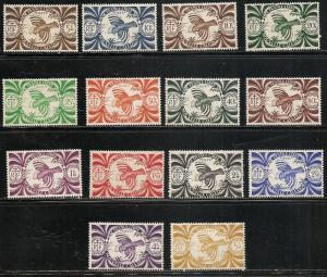 New Caledonia 252-65 1942 Kagu set MNH