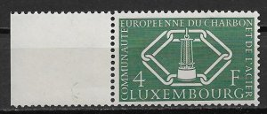 1956 Luxembourg #317  4f European Coal and Steel Community MNH