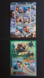 Famous people - Roy Scheider - Guinea 2008. - Complete SS + Bl ** MNH