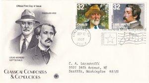 1997, Honoring Ives & Gottschalk, PCS, FDC (E11968)