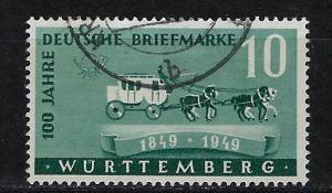 Germany - under French occupation Scott # 8N38, used