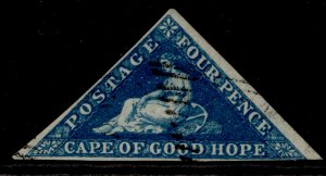 SOUTH AFRICA - Cape of Good Hope QV SG6a, 4d blue, USED. Cat £90.