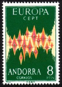 1972, Spanish Andorra 8Pts, MNH, REPRINT, Sc 62