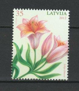Latvia 2012 Flowers MNH stamp