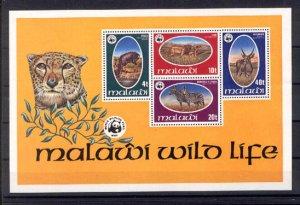 030479 MALAWI 1978 WWF animals S/S #30479