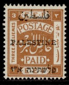 PALESTINE GV SG49, 3m yellow-brown, M MINT. Cat £48.